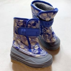 L.L. Bean toddler girl snow boots